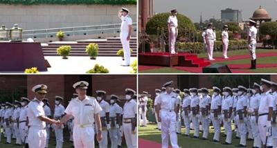 যুক্তরাজ্যের নৌবাহিনী প্রধান অ্যাডমিরাল নয়াদিল্লিতে ভারতীয় প্রতিপক্ষের সঙ্গে সাক্ষাৎ করেছেন