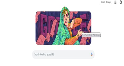 Google celebrates the iconic actor Madhubala's 86th birthday with Doodle
