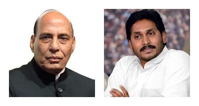 Rajnath Singh meets Andhra CM YS Jagan Mohan Reddy