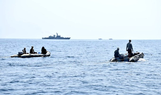 Indian Navy deploys its surface and air assets for search and rescue of missing fishermen at sea off coast of Mangalore