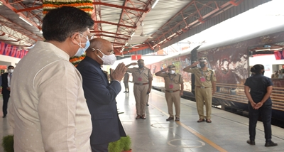 President Ram Nath Kovind reaches Kanpur by spl train on 5-day visit to UP