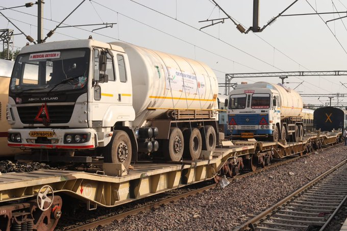 Oxygen Expresses deliver record 831 Metric Tonnes of Liquid Medical Oxygen in single day