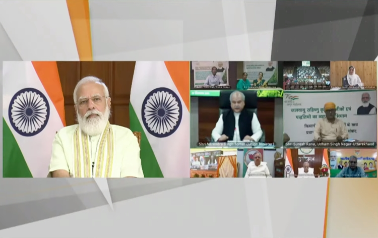 PM Modi dedicates 35 crop varieties with special traits to nation through video conferencing