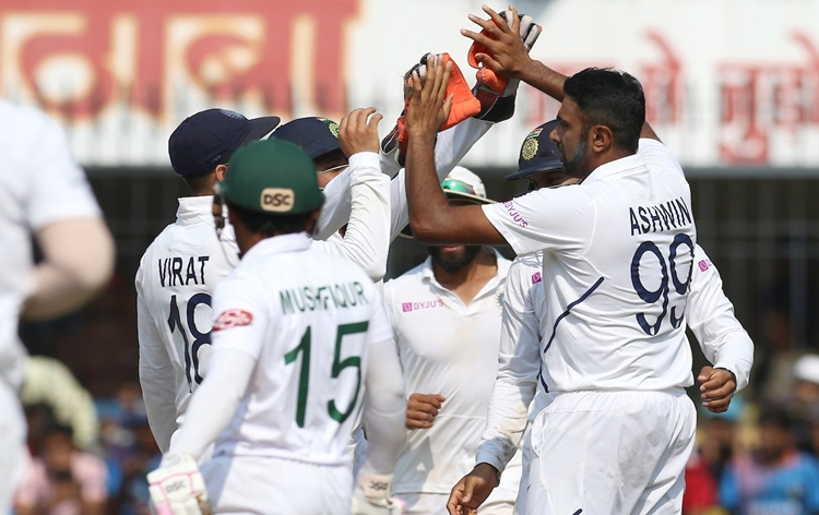 India beat Bangladesh by an innings and 130 runs in first test