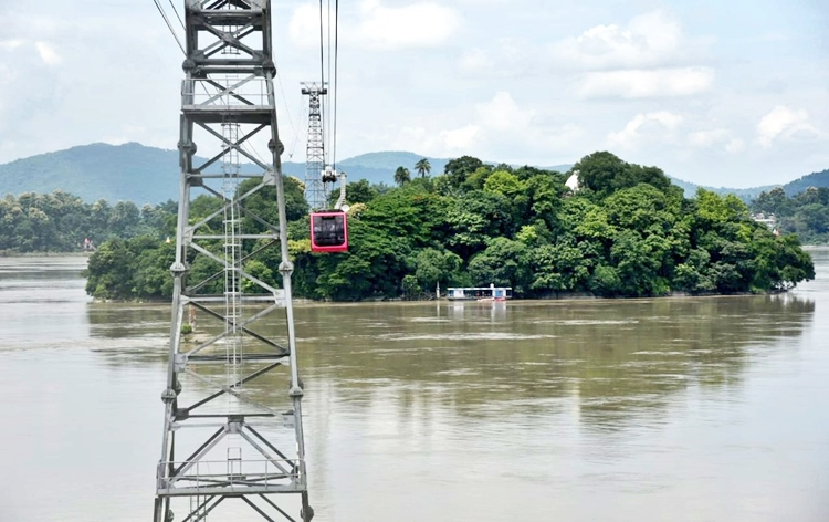 India's longest river ropeway connecting Guwahati and North Guwahati over Brahmaputra river inaugurated