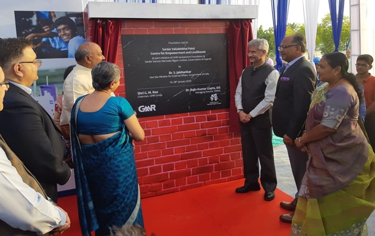 S Jaishankar lays foundation stone of Sardar Vallabhbhai Patel Centre at Kevadia in Gujarat