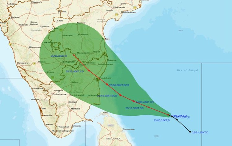 Cyclone 'NIVAR' likely to cross Tamil Nadu & Puducherry coast on Nov 25: IMD
