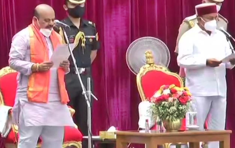 Basavaraj S Bommai takes oath as Chief Minister of Karnataka